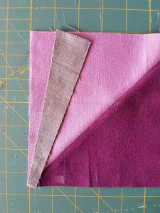 "Line up at the 1"" Mark from edge and join points. Ensure 90° angle is edge that you are not sewing on."